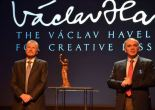 Emil Constantinescu and Gary Kasparov award the Vaclav Havel Prize for Creative Dissent